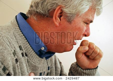 Senior Man With Cough