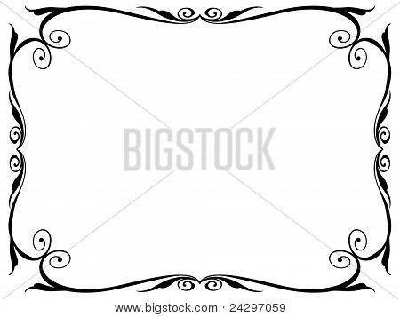 marco decorativo ornamental simple