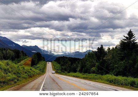 road in Jasper national park