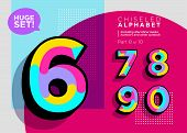 Vector Mosaic Typeset. Textured Geometric Type. Trendy Polygonal Typography For Music Poster, Sale C poster