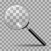 Magnifying Glass. Magnifier Or Lupa Vector Icon For Zoom Scrutiny, Search Or Magnify Buttons poster