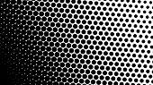 Gradient Halftone Dots Background Diagonal Vector Illustration. Black White Dots Halftone Texture. P poster
