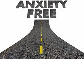 Anxiety Free Road to Clear Mind Avoiding Stress 3d Illustration poster