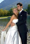 picture of wedding couple  - Series of Wedding pictures the couple just married - JPG