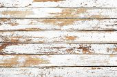 Vintage White Wood Background - Old Weathered Wooden Plank Painted In White Color. poster