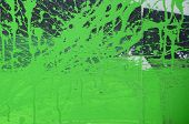 Street Art. Abstract Background Image Of A Fragment Of A Colored Graffiti Painting In Khaki Green An poster