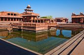 image of khas  - Early morning view of UNESCO World Heritage site Fatehpur Sikri India - JPG