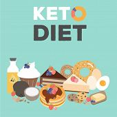 Ketogenic Diet Food, Low Carb Keto Desserts poster