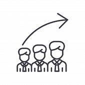 Career Progression Black Icon Concept. Career Progression Flat  Vector Website Sign, Symbol, Illustr poster