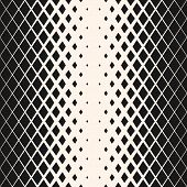 Vector Geometric Seamless Pattern With Crystals, Rhombuses, Diamond Shapes. Halftone Gradient Transi poster