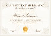 Certificate Template. Printable / Editable Design For Diploma, Certificate Of Appreciation, Certific poster