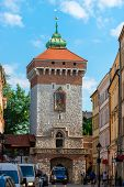 Florian Gate And The City Of Krakow, Poland poster