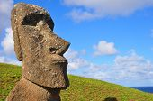 Solitary Moai On Easter Island