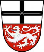 Coat Of Arms Of Adenau Is A Town In The High Eifel In Germany. Vector Illustration poster
