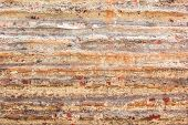 Old Brown Brick Wall With Multi Layers And Rupture, Mortar Wallpaper, Dark Brown And Light Brown Pat poster