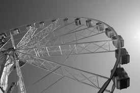 stock photo of ferris-wheel  - Big ferris wheel in black - JPG