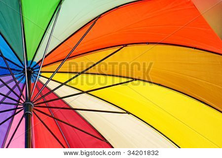Colourful umbrella background