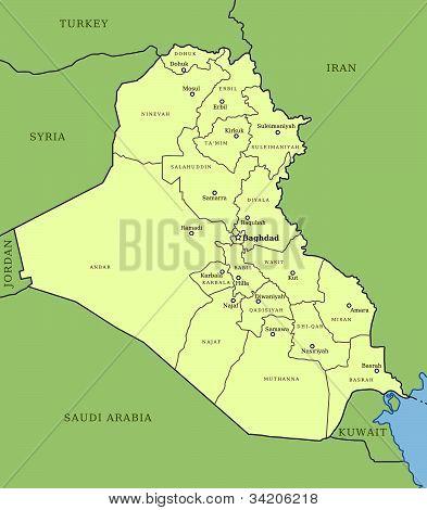 Karte des Irak