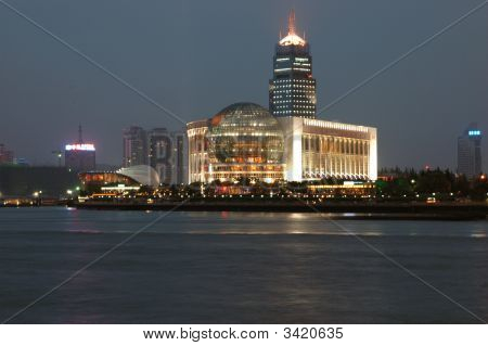 Night Scenery Of Shanghai