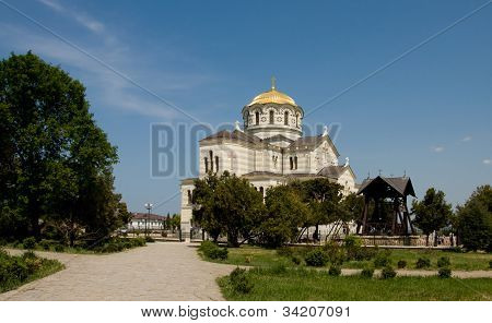 Cathedral Of St. Vladimir. Chersonesus Near Sevastopol In Crimea
