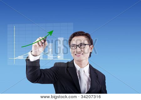 Businessman Drawing Business Chart