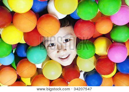 Cheerful Boy Playing