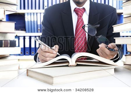 Businessman Studying