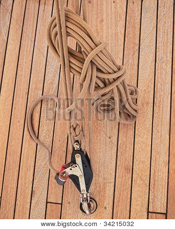 traditional yacht armament and rope