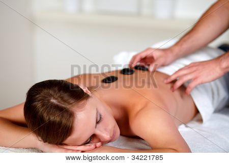 Young Woman Relaxing At A Day Spa