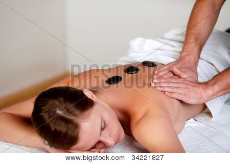 Young Girl Relaxing At A Day Spa