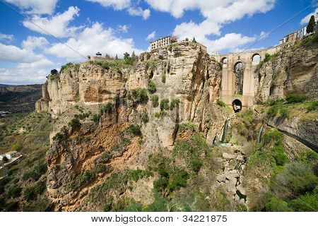 Ronda Rocks In Andalusia