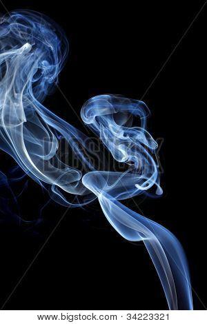 Smoke Over Black Background