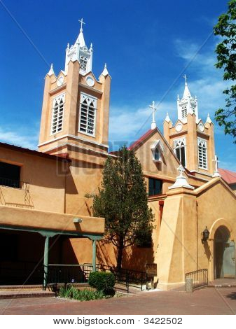 San Felipe De Neri Church In Old Town Albuquerque