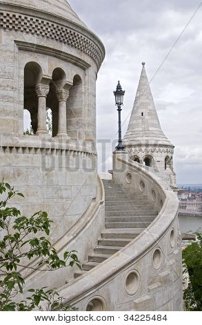 Detail Of Fishermens Bastion, Budapest