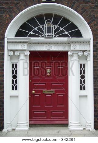 Maroon Dublin Door