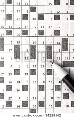 Crossword In Newspaper
