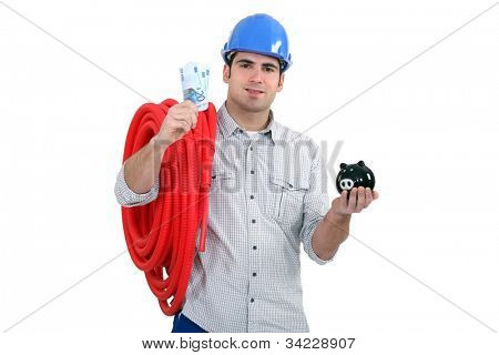 A plumber and his savings.