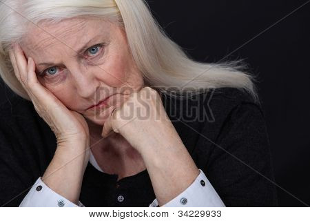 Sad old lady