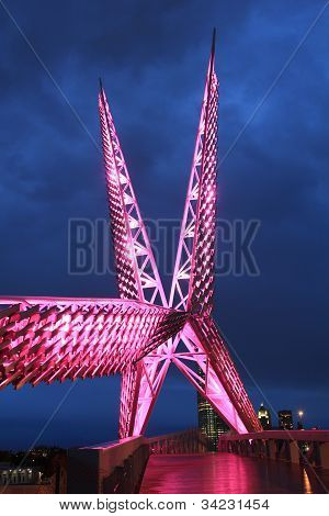 Oklahoma City SkyDance Bridge - Pink