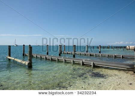 Docks at the Dry Tortugas