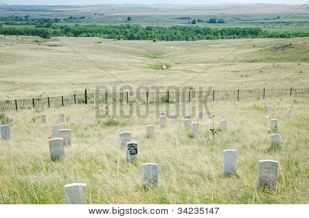 Custer's Last Stand in the plains of Montana