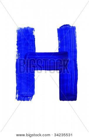 Letter h on white background