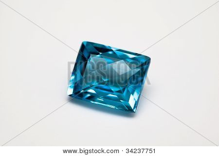 Muti facet swiss blue topaz