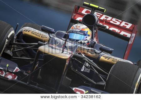 VALENCIA, SPAIN - JUNE 22: Daniel Richiardo in the Formula 1 Grand Prix of Europe, in Valencia Street Circuit, Spain on June 22, 2012
