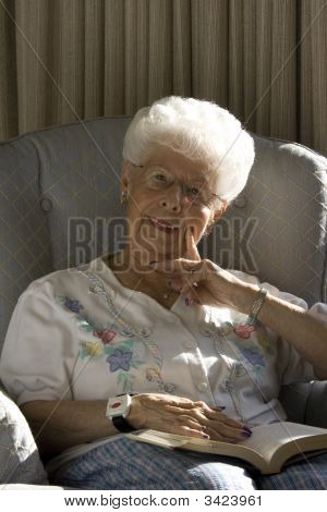 Senior Woman Sitting
