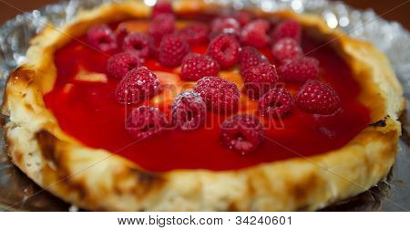 cheesecake with raspberry