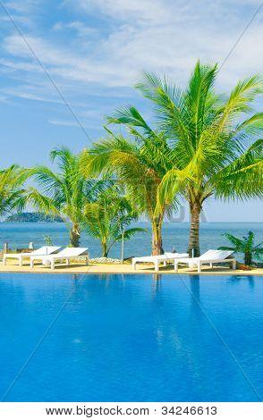 Resort Relaxation Fancy Hotel