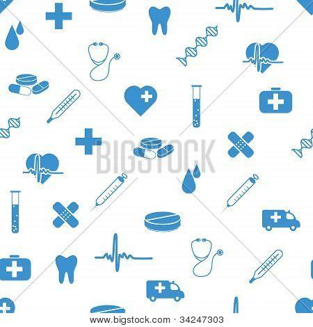Médica ícones padrão sem emenda