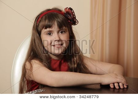 Young Girl At Home