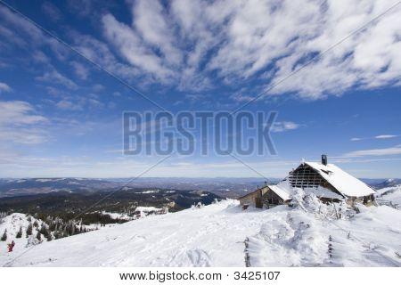 Snowy Winter Landscape On Jahorina Mountain Near Sarajevo